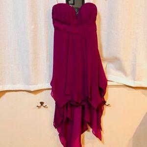 Sexy Strapless GB Chiffon Dress